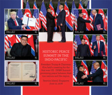 Palau   2018     US-DPR Korea Summit Singapore Trump And Kim Jong-un I201901 - Palau