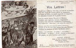MILITARIA 353 : Beau Texte D Un Poilu Au 52me Territorial D Infanterie Frontière De L Est - Patriottiche