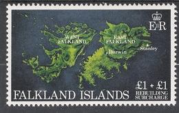 Falkland Islands 1982 Rebuilding £1 + £1 MNH CV £1.50 - Falkland Islands