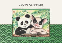 Liberia  2019  New Year Of Pig ,panda   I201901 - Liberia
