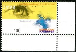 A13-24-1) BRD - Mi  2089 ECKE REU - ** Postfrisch (F) -100Pf             EXPO 2000 - [7] República Federal