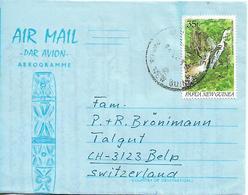 PAPUA NEW GUINEA 1990 AEROGRAMME SENT TO BELP 1 STAMP AEROGRAMME USED - Papua New Guinea