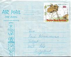 PAPUA NEW GUINEA 1990 AEROGRAMME SENT TO BELP 1 STAMP AEROGRAMME USED - Papouasie-Nouvelle-Guinée