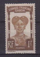 GABON : N° 46 * . SIGNE CALVES . 1910 . - Gabon (1886-1936)