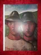 Soldato E Contadino Soldiers BUZZI Ill. Xilografia Anni 1920/30  Xilografie - Ex Libris