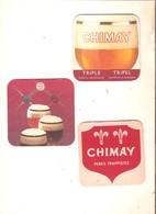 (3) -  3 Sous-bocks - TRAPPISTE DE CHIMAY - Beer Mats