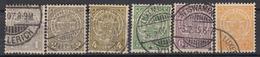 LUXEMBURG - Michel - 1907 + 1919 - Nr 84/88 + Nr 120 - Gest/Obl/Us - 1907-24 Ecusson