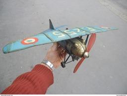 AVION JEP Avant Guerre SUPERBE JOUET TOLE  Dewoitine D27 - F255 Mécanique à Clé - Rare état - Couleur Bleu Rare - Ancien - Avions & Hélicoptères
