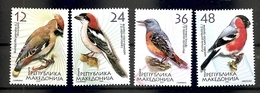MACEDONIA 2004,MI NO 329-32,BIRDS,SONGBIRDS,,MNH - Vögel