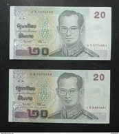 Thailand Banknote 20 Baht Series 15 P#109 SIGN#75 Replacement 0Sพ - 1Sพ UNC - Thailand