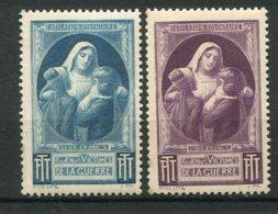 12756 FRANCE N° 23/4 ** 2F Bleu-vert, 5F Violet :  Timbres De Bienfaisance Des P.T.T    1940-44  B/TB - Autres