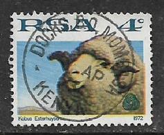 South Africa, 1972, 4 Cents Sheep, Used DOCKS B.O. MOMBASA KENYA 5 AP 73 C.d.s. - South Africa (1961-...)