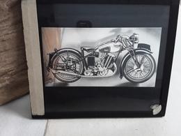 DRIE GLASPLATEN MOTO SAROLEA - Plaques De Verre