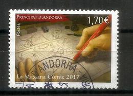 ANDORRA. Museu Del Còmic D'Andorra. Un Timbre Oblitéré 1 ère Qualité 2017 - Used Stamps