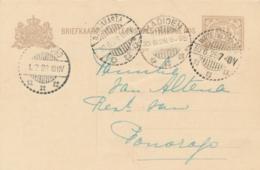 Nederlands Indië - 1928 - 7,5 Cent Cijfer, Briefkaart G29 Van LB WATES DJOKJA Naar Ponorogo - Nederlands-Indië