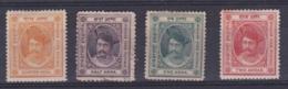 ETATS INDIENS :  HOLKAR  : 3 à 6 Neuf X Maharajah Shivaji Rao - Holkar