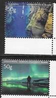 ICELAND , 2019, MNH, TOURIST STAMPS, DIVING, NORTHERN LIGHTS, AURORA BOREALIS, ARCTIC,2v - Holidays & Tourism