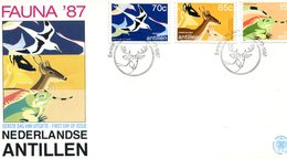 ANTILLES DUTCH 1987 FDC With IGUANA/BIRD/DEER.BARGAIN.!! - Andere