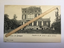 ENVIRONS DE GENAPPE « Propriété De Mrs .BREUER à BASSE-LALLOUX» Édit  E.Dohet,Genappe - Genappe