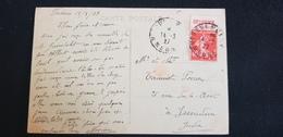 Cp 55 VERDUN Gare ( Timbre Poste Semeuse Rouge 40c Avec Vignette Publicitaire GREY POUPON CORNICHONS Dijon 21 Moutarde ) - 1906-38 Sower - Cameo
