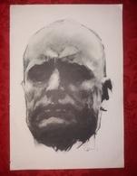 Mussolini DUCE DUX Ritratto Volto Xilografia  Xilografie Da Rivista Italiana - Ex Libris