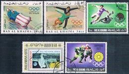 Ra's Al Chaima 1967 / 70  -  Michel  2156 /* 216 + 312 + 475 / 476  ( Usados ) - Ra's Al-Chaima