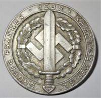 """1938 DR Badge """"Kampftage Der SA Gruppe Franken"""" - 1939-45"""