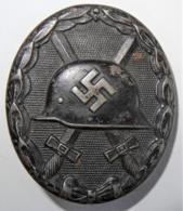 1939-1945 WW II DR Verwundetenabzeichen Für Das Heer 1939 In Schwarz 2. Form (Eisen) - 1939-45