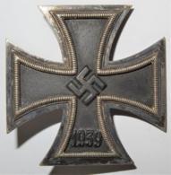 1939 WW II DR Iron Cross / Eisernes Kreuz 1.Klasse Flach Mit Nadel - 1939-45