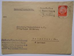 1936 DR Brief Reichsluftschutzbund Slogan Pmk Briefkasten Am Hauseingang Beschleunigen Die Zustellung - Allemagne