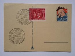 1941 WW II DR Postcard Propaganda Churchill Leipziger Messe - Duitsland