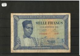 MALI 1968 - 1000 FRANCS TYPE MODIBA KEITA TTB - Mali