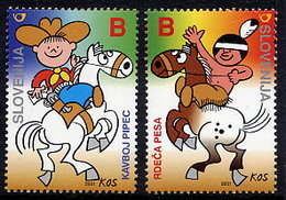 SLOVENIA 2001 Cartoon Characters MNH / **. Michel 341-42 - Slowenien