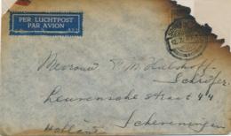 Nederlands Indië - 1935 - Crashmail MARABOE Bushire, Forwarded To Destination In Dienst-cover Met 3-regelige Tekst - Nederlands-Indië