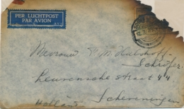 Nederlands Indië - 1935 - Crashmail MARABOE Bushire, Forwarded To Destination In Dienst-cover Met 3-regelige Tekst - Niederländisch-Indien