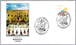 AJEDREZ VIVIENTE - Partita A Scacchi A Personaggi Vivente - Chess. Marostica, Vicenza, 2018 - Schach