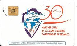 CARTE-PUCE-MONACO-MF28-50 U-GEMA-05/93-30 ANS CHAMBRE COMMERCE-V°N° Série B3411731 A--TBE - Monaco