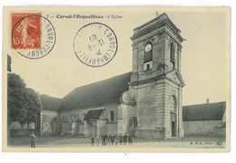 CPA 58 CORVOL-L'ORGUEILLEUX L'EGLISE - Otros Municipios
