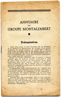 SCOUTISME -   ANNUAIRE Du GROUPE  MONTALEMBERT -  PARIS - Livres, BD, Revues