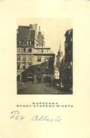 "3426 ""WARSZAWA-RINEK STAREGO MIASTA"" VARSAVIA-MERCATO CITTA' VECCHIA-ANIMATA-CART. POST. ORIG. SPED.1937 - Polonia"