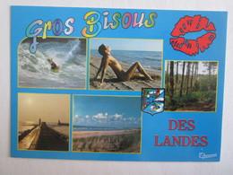 40 Landes Gros Bisous Des Landes Femme Sein Nu Nue Pin-up Pin-ups - Unclassified