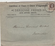 Enveloppe Des Carrières Et Four à Chaux D'Aigremont ; Aux Awirs ( Engis ) ; Dardenne Frères (carrière) - Engis