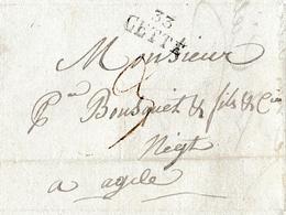 1817 - CETTE (33) - Lettre De M. CIELLE De Cette à M. Bousquet D'Agde - Documents Historiques