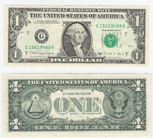 USA  1 Dollar 1988A Chicago Used - Federal Reserve Notes (1928-...)
