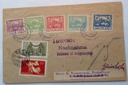 """CSSR 1918 HRADČANY """"mixed Franking"""" Cover +Schweiz 1919 FDC FRIEDEN/PAIX 1914-18(Czechoslovakia Tschechoslowakei Brief - Czechoslovakia"""