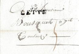 1810 - CETTE (33) - Lettre De M. COULOUGNON Cadet De Cette à M. Bousquet De Toulouse - Documents Historiques