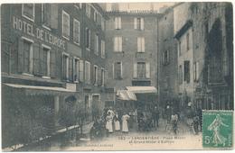 LARGENTIERE - Place Mazan Et Grand Hôtel D'Europe - Largentiere