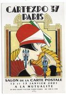 CPM     75     PARIS    CARTEXPO  SALON CARTE POSTALE  2001 - Collector Fairs & Bourses
