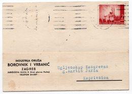 1943 CROATIA, NDH, ZAGREB, CORRESPONDENCE CARD, BOROVNIK I VRBANIC - Croatia