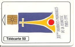 CARTE-PUBLIC-MONACO-MF 45-GEMA-06/97-XIIe JMJ-UTILISE-TBE - Monaco